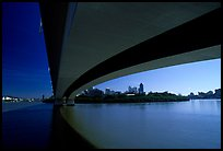 Bridge on the Brisbane River. Brisbane, Queensland, Australia (color)