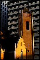 Red brick St Andrew's church. Brisbane, Queensland, Australia (color)