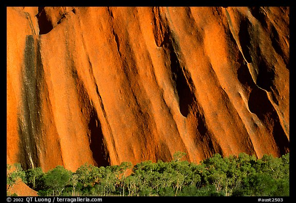 Walls of Ayers Rock. Uluru-Kata Tjuta National Park, Northern Territories, Australia (color)