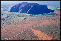 Aerial view of Ayers Rock. Uluru-Kata Tjuta National Park, Northern Territories, Australia