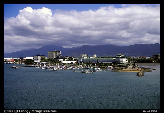 Aerial view of Cairns. Queensland, Australia (color)