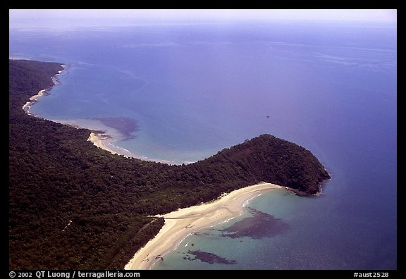 Aerial view of Cape Tribulation. Queensland, Australia