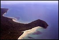 Aerial view of Cape Tribulation. Queensland, Australia (color)