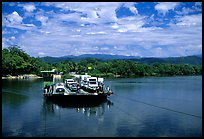 Daintree River ferry crossing. Queensland, Australia (color)
