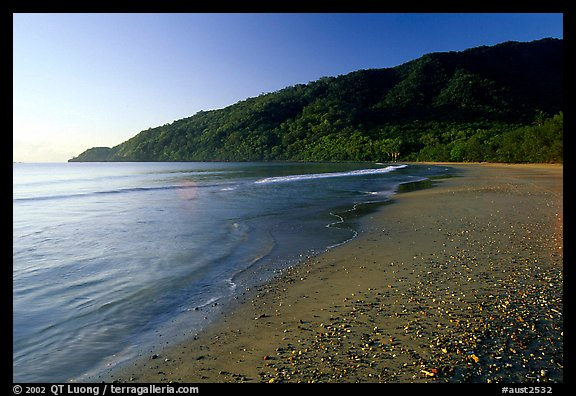 Beach near Cape Tribulation. Queensland, Australia (color)