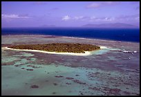 Aerial view of a sand bar  near Cairns. The Great Barrier Reef, Queensland, Australia ( color)