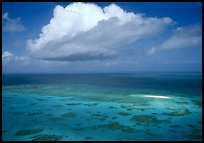 Aerial view of a reef near Cairns. The Great Barrier Reef, Queensland, Australia ( color)