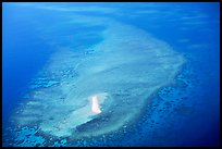 Aerial view of a sand bar and reef near Cairns. The Great Barrier Reef, Queensland, Australia ( color)
