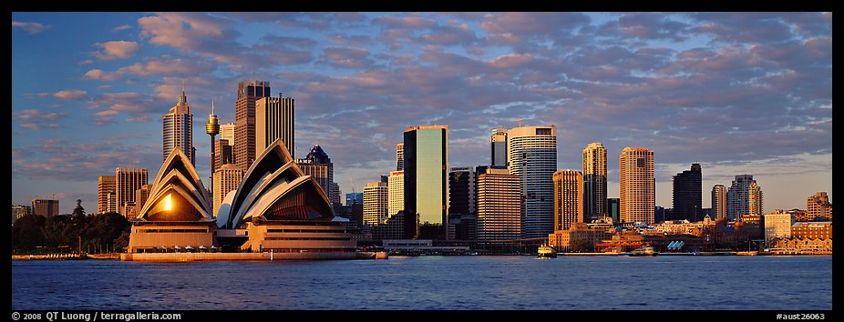 Sydney skyline view with Opera House. Sydney, New South Wales, Australia (color)