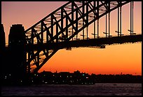 Harbour bridge at sunset. Sydney, New South Wales, Australia ( color)