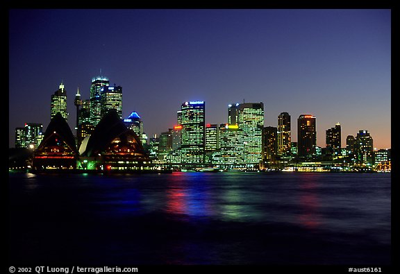 Skyline at night. Sydney, New South Wales, Australia (color)
