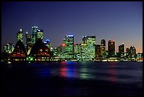 Skyline at night. Sydney, New South Wales, Australia