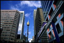 Monorail train ramp in downtown. Sydney, New South Wales, Australia ( color)