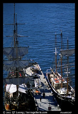 Historic Sailboats in harbour. Sydney, New South Wales, Australia