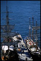 Historic Sailboats in harbour. Sydney, New South Wales, Australia ( color)