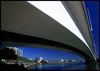 Bridge across the Brisbane River. Brisbane, Queensland, Australia (color)