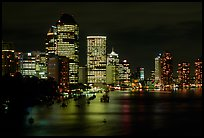 Brisbane reflected in the river at night. Brisbane, Queensland, Australia