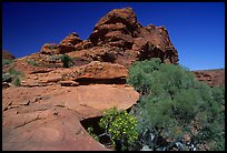 Rock formations in Kings Canyon,  Watarrka National Park. Northern Territories, Australia (color)