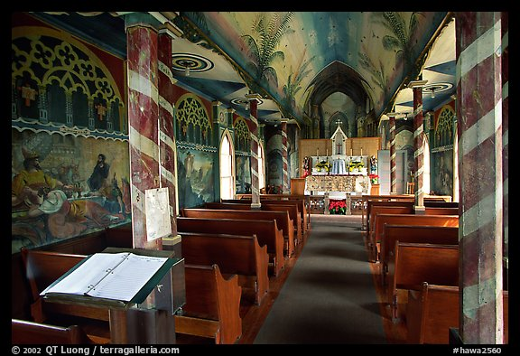 Inside Saint Benedict Catholic Church (Painted Church), South Kona. Big Island, Hawaii, USA