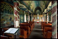 Inside Saint Benedict Catholic Church (Painted Church), South Kona. Big Island, Hawaii, USA ( color)