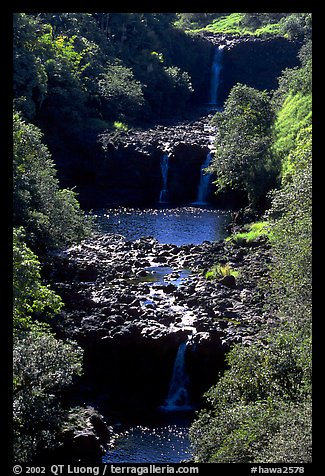 Umauma Falls. Big Island, Hawaii, USA