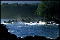 Crashing surf, Keanae Peninsula. Maui, Hawaii, USA