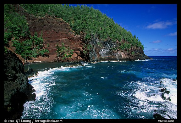 Red sand beach in Hana. Maui, Hawaii, USA