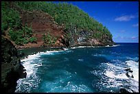 Red sand beach in Hana. Maui, Hawaii, USA (color)