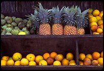Tropical Fruits, roadside stand. Maui, Hawaii, USA ( color)