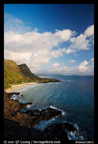 Coastline and Makapuu Beach, early morning. Oahu island, Hawaii, USA (color)