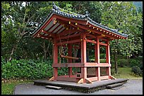 Bon-Sho, or sacred bell of Byodo-In temple. Oahu island, Hawaii, USA (color)