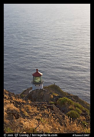 Makapuu head ligthouse, early morning. Oahu island, Hawaii, USA