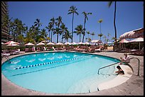 Swimming pool, Sheraton  hotel. Waikiki, Honolulu, Oahu island, Hawaii, USA (color)