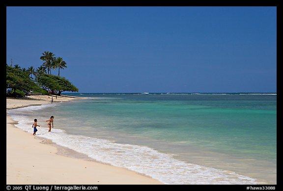 Beach, north shore. Oahu island, Hawaii, USA (color)