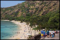 Hanauma Bay beach. Oahu island, Hawaii, USA (color)