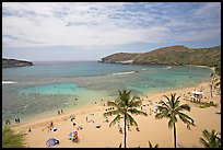 Hanauma Bay and beach. Oahu island, Hawaii, USA (color)