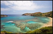 Hanauma Bay with no people. Oahu island, Hawaii, USA ( color)