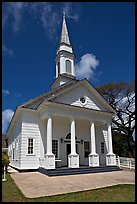 White church, Koloa. Kauai island, Hawaii, USA