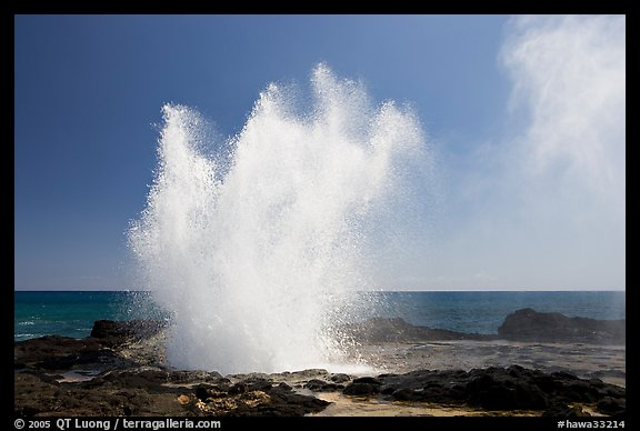 Spouting horn blowhole. Kauai island, Hawaii, USA (color)