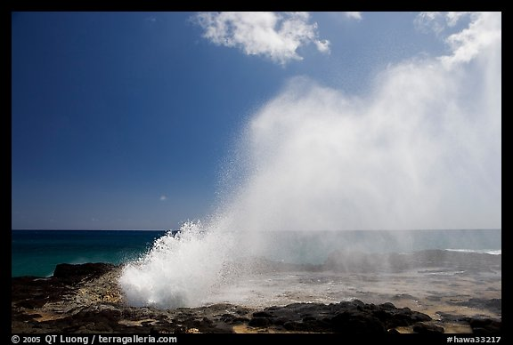 Spouting horn blow hole. Kauai island, Hawaii, USA