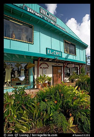 Island Hemp and Cotton store in Kapaa. Kauai island, Hawaii, USA (color)