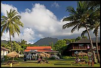 Hanalei downtown. Kauai island, Hawaii, USA
