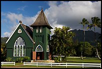 Waioli Huila Church built in 1912, Hanalei. Kauai island, Hawaii, USA ( color)