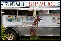 Truck selling shave ice. Kauai island, Hawaii, USA (color)