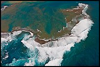 Aerial view of surf. Kauai island, Hawaii, USA