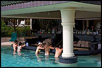Swim-up bar, Princeville hotel. Kauai island, Hawaii, USA (color)