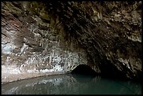 Waikanaloa wet cave. North shore, Kauai island, Hawaii, USA (color)