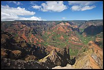 View from Waimea Canyon lookout, afternoon. Kauai island, Hawaii, USA (color)