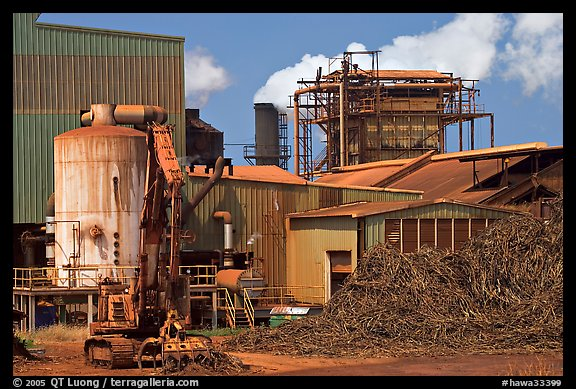 Sugar cane factory. Kauai island, Hawaii, USA (color)