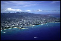 Aerial view. Waikiki, Honolulu, Oahu island, Hawaii, USA (color)